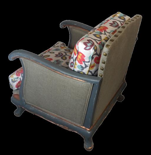 fotel srebrny