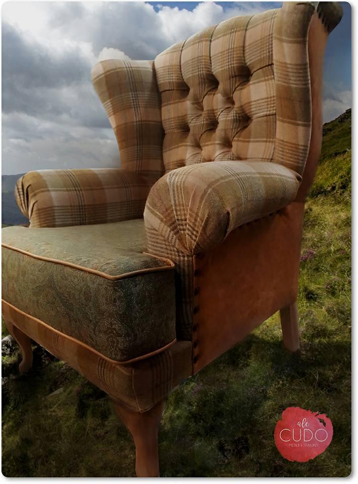 fotel, duży, wełniany, skórzany, alecudo, berżer