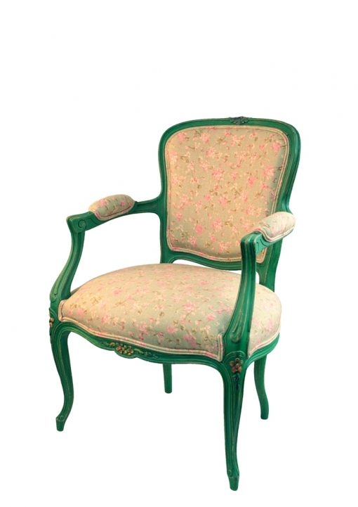 fotelik malowany