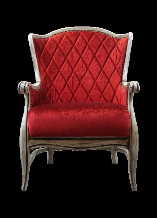 fotel pikowany