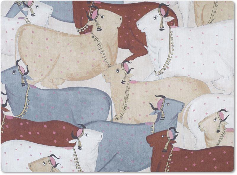 krowy, nandi, tkanina, textil, guell lamadrid
