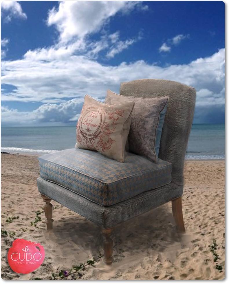 błękitny fotel