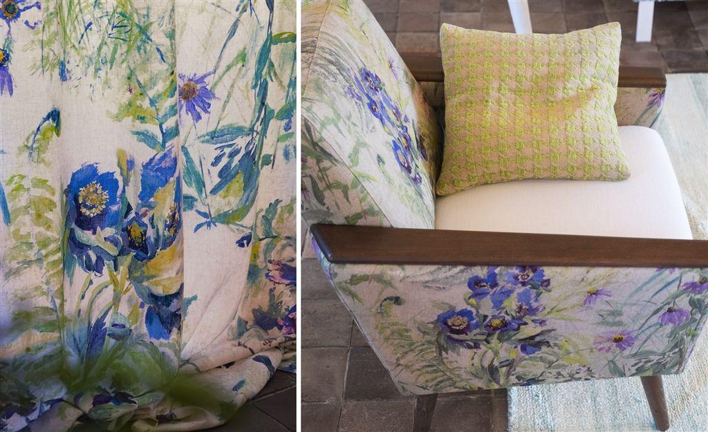 fotel w kwiaty