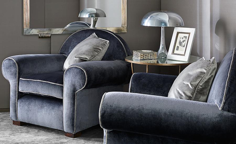 fotele welurowe